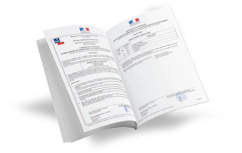 NOS AGRÉMENTS & CERTIFICATIONS
