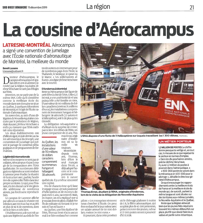 Art-Sud-Ouest_15 décembre 2019_ La Cousine d'AEROCAMPUS