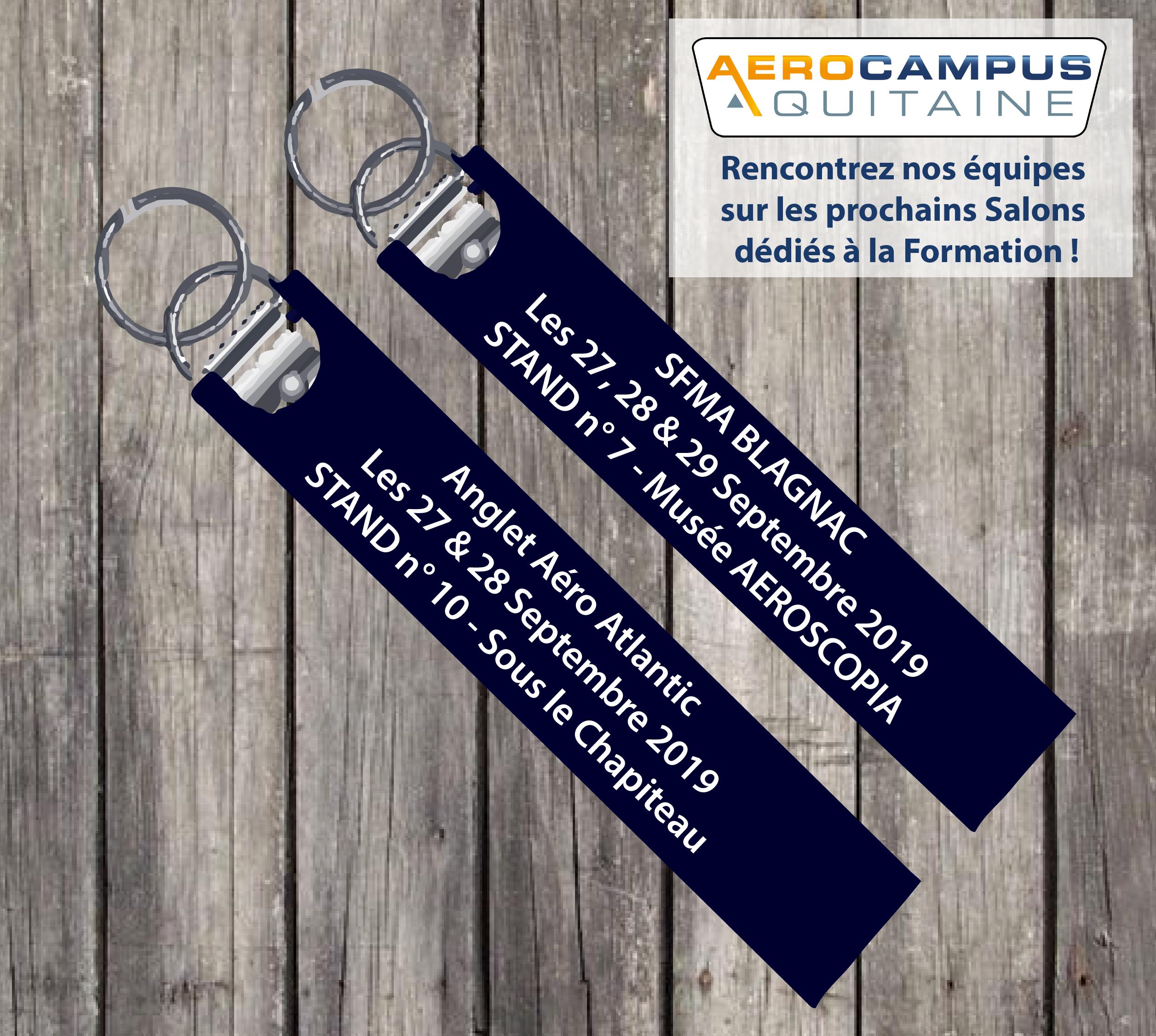 AEROCAMPUS – Participation Salons Formations Aéronautiques 2019