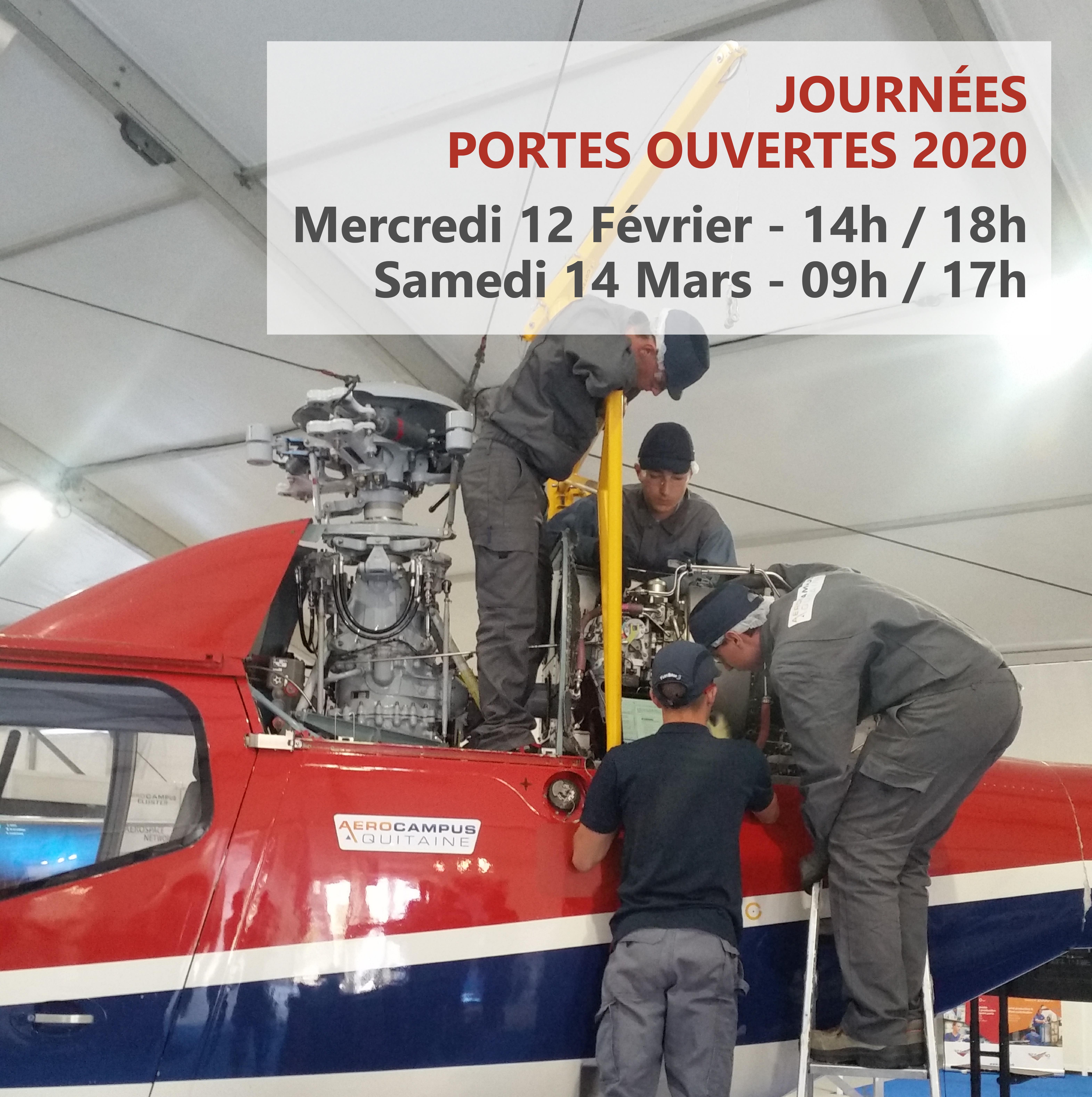 Journées Portes Ouvertes 2020 – AEROCAMPUS Aquitaine