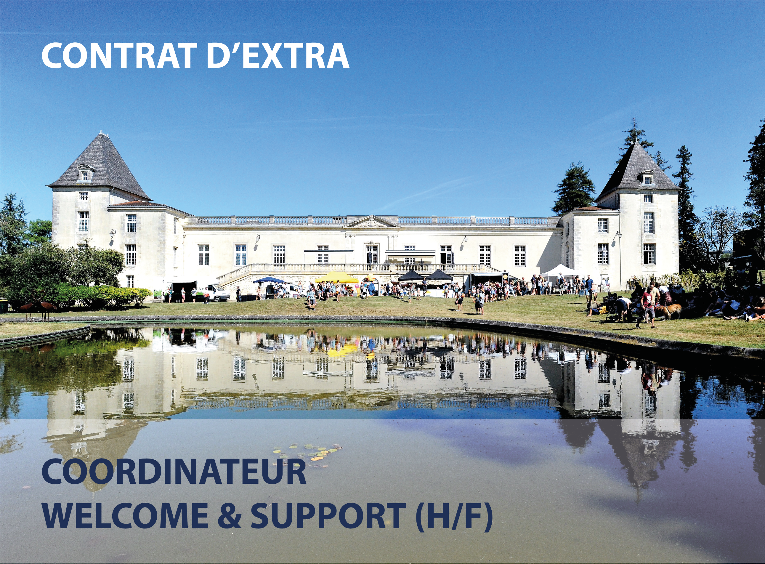 CONTRAT D'EXTRA – COORDINATEUR WELCOME & SUPPORT (H/F)